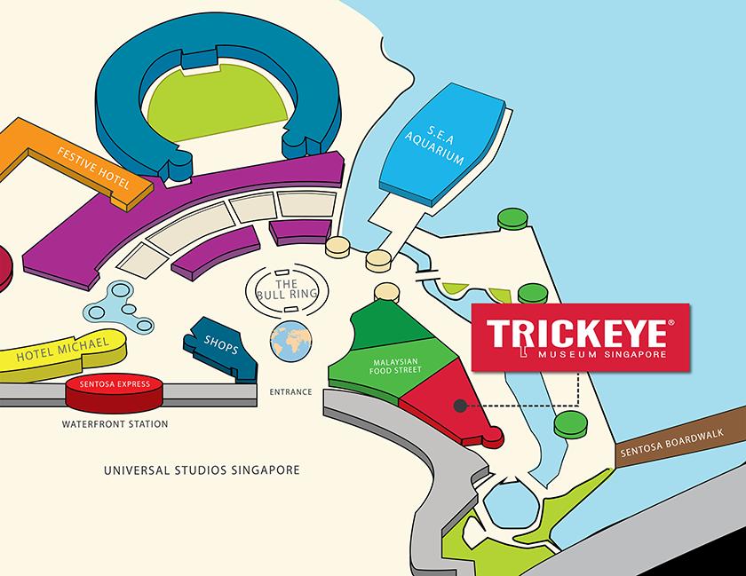 Trickeye museum resorts world sentosa 26 sentosa gateway 01 4344 singapore 098138 trick eye museum is located near universal studios and malaysian food street gumiabroncs Gallery