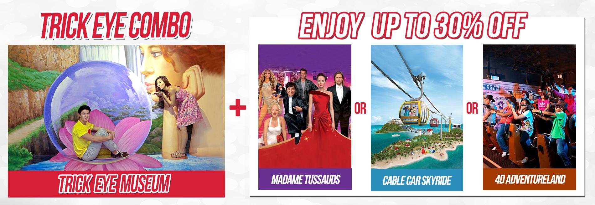 Trickeye Museum Tiket Madame Tussauds Singapore 1